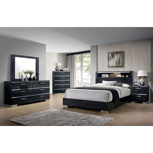 Navarro Bedroom Set in Dark Grey Zebrano - Mod Designs