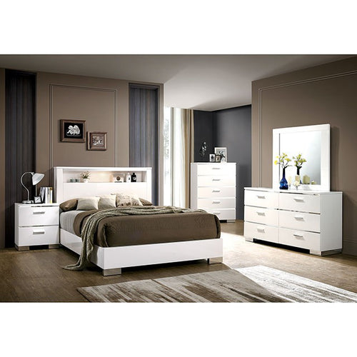 Navarro Bedroom Set in White - Mod Designs