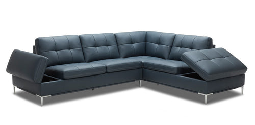 Rafaelo Modern Sectional in Navy - Mod Designs