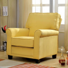Mabel Plush  Accent Chair In Baby Yellow - Mod Designs