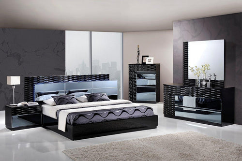 Noho Bedroom Set in Black Lacquer - Mod Designs