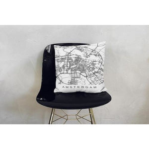 Amsterdam Map Netherlands Decorative Cover - Mod Designs