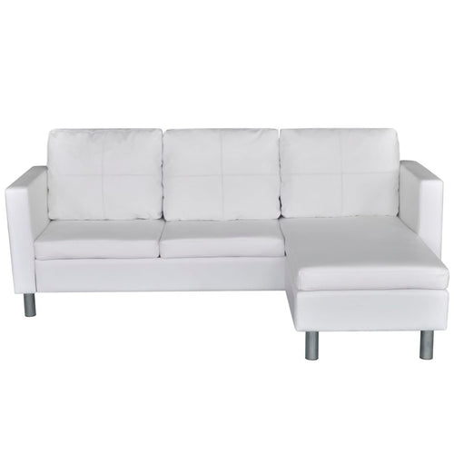 Lex Mini Sectional in White - Mod Designs