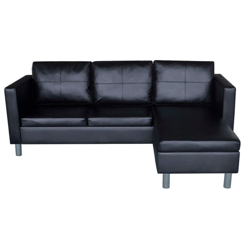Lex Mini Sectional in Black - Mod Designs