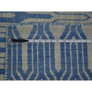Reversible Geometric Kilim Hand Woven Oriental Rug - Mod Designs