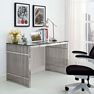 Hudson Stainless Steel Office Desk