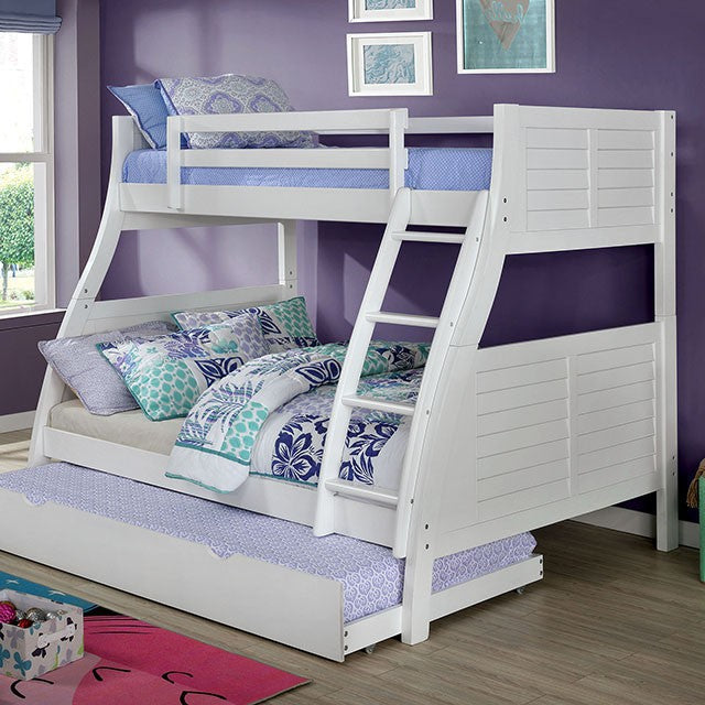 Trifecta White Bunk Bed