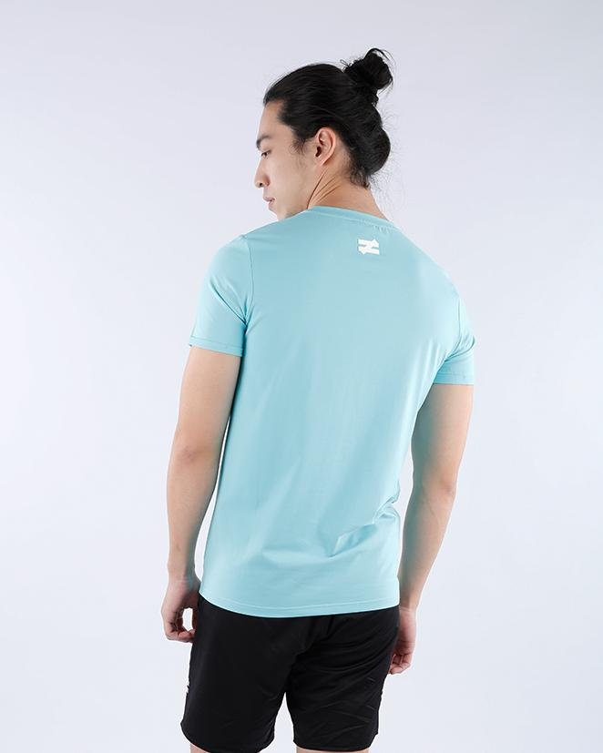 Fashion Tee V2 Rolled Up Sleeves in Sea Blue