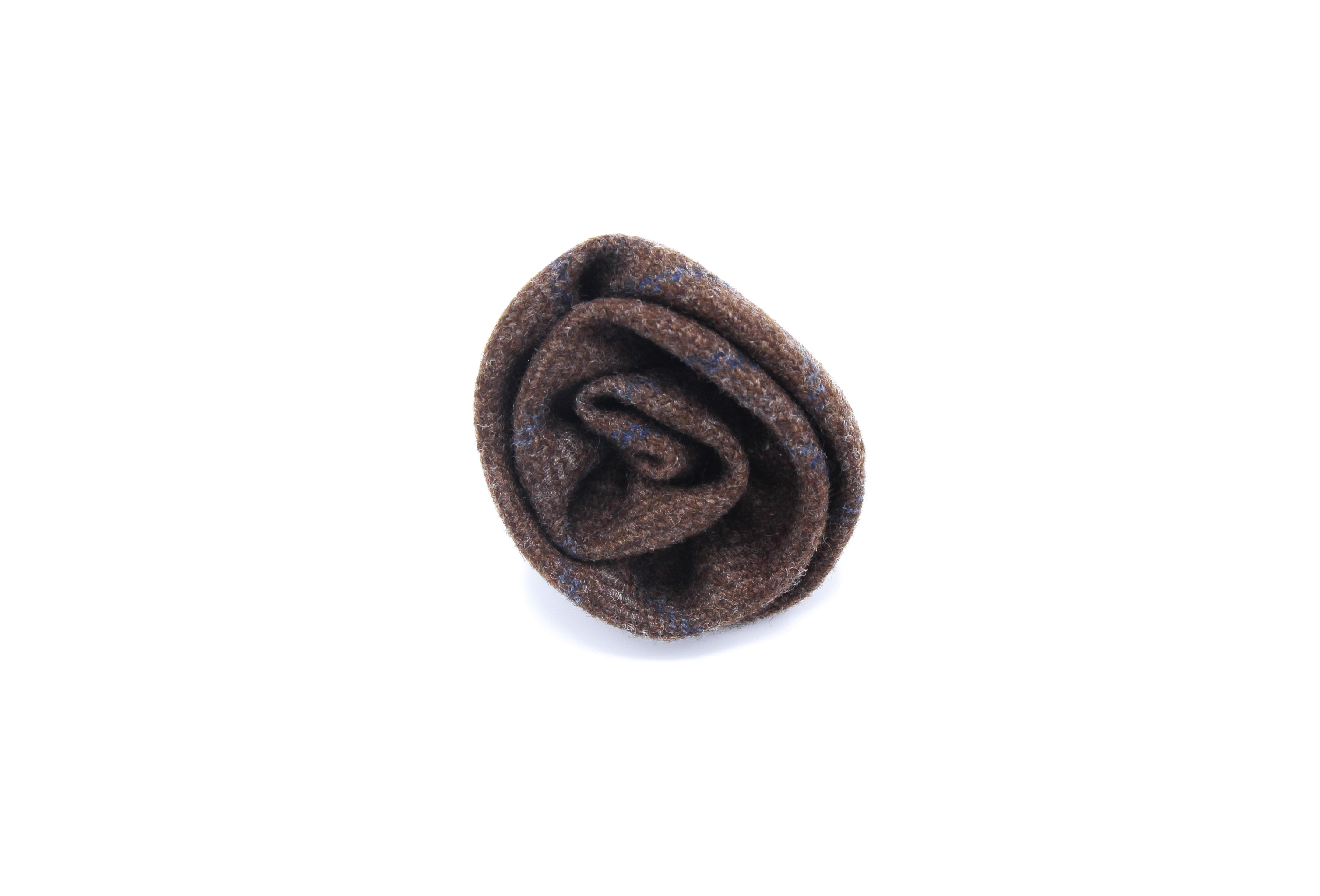 Chocolate Wool Lapel Pin