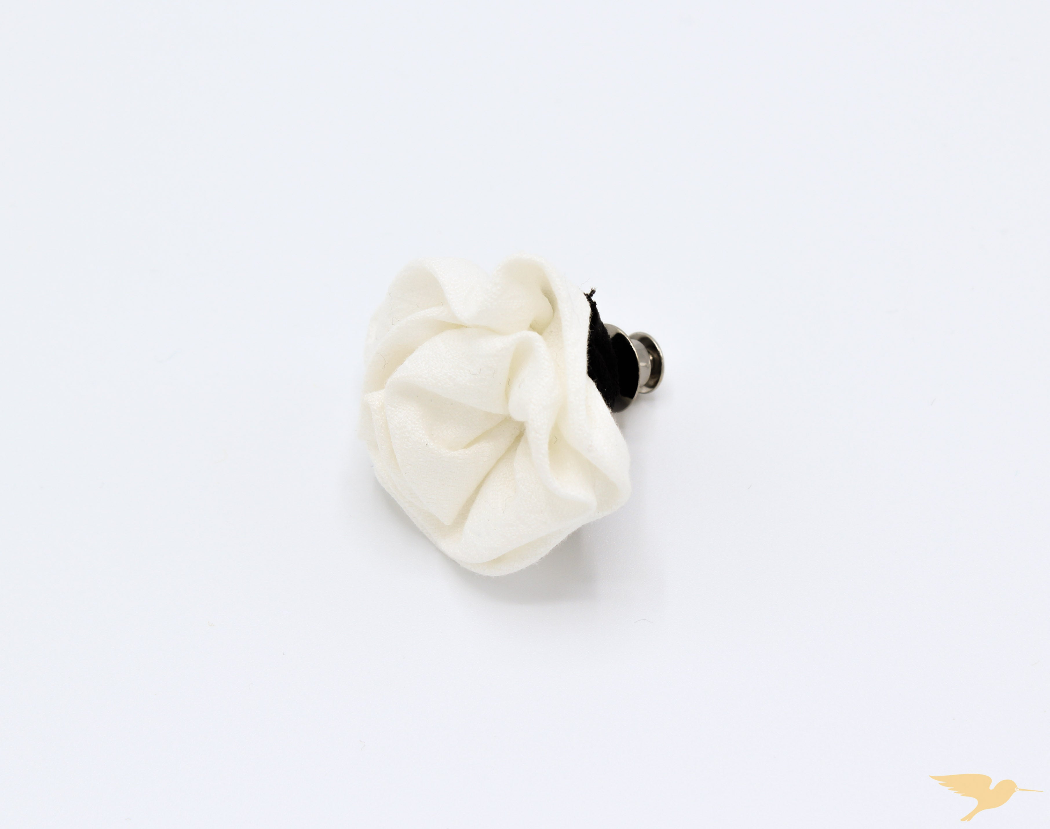 White Linen Lapel Pin