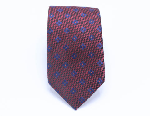 Brown Houndstooth Neck Tie