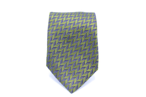 Green and Silver Tie