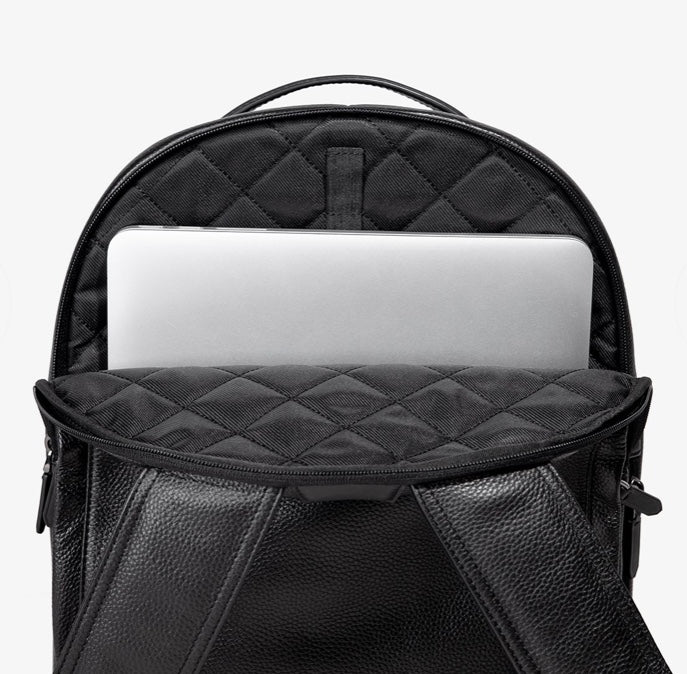 PRE-SALE | BLACK LEATHER BACKPACK