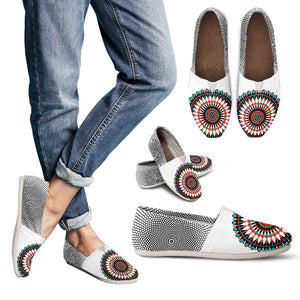 Mandala White Casual Shoes