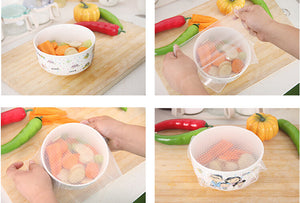 Keep Food Fresh Silicone Covers (4pcs Combo Pack)