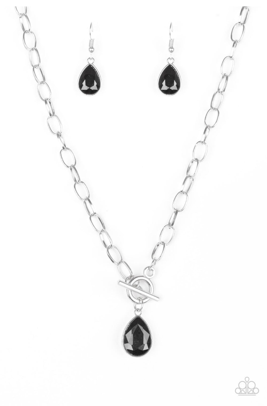 So Sorority - Black & Silver Necklace