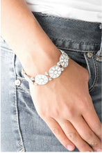 Dancing Dahlias White Bracelet