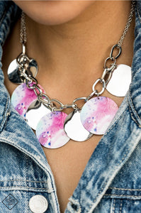 Tie Dye Drama - Multi - Necklace - Trend Blend / Fashion Fix Exclusive - October 2020
