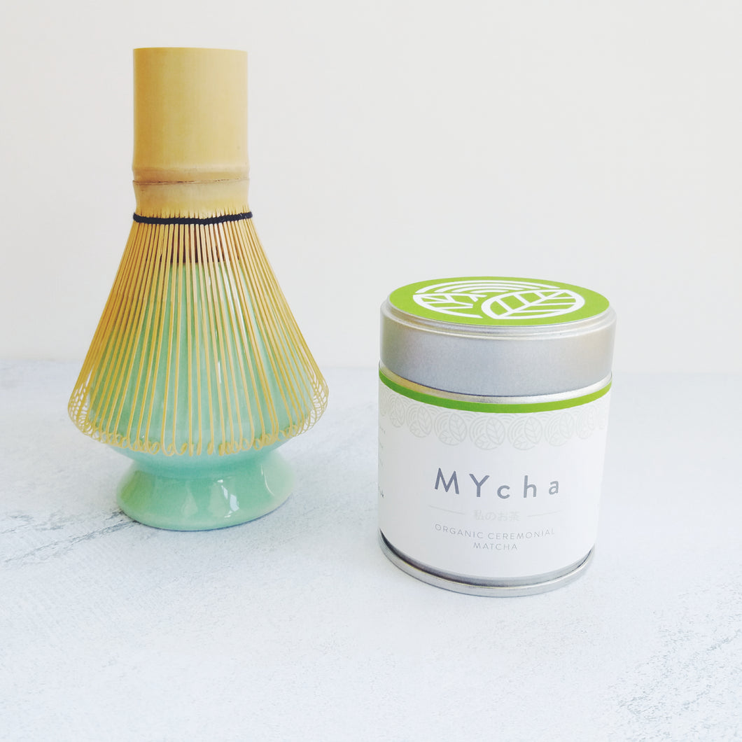 Organic Ceremonial Matcha and Whisk Set