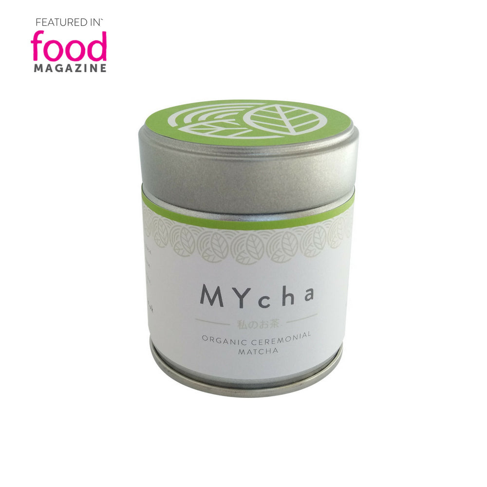 MYcha Organic Ceremonial Japanese Matcha Green Tea Powder as Featured in Food Magazine