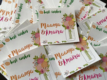pretty flowers personalised sticker gift labels