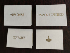 Diwali Greetings - Personalised Fold Card