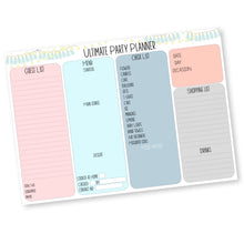 Party Planner from Label Shabel with 4 sections.