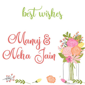 pretty flowers in a mason jar gift label