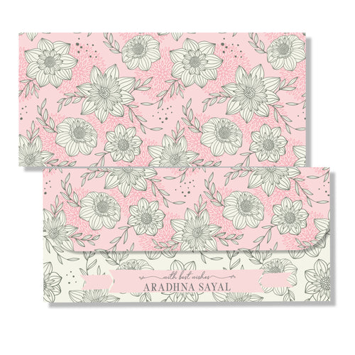 Personalised Money Envelopes - Roses & Cream