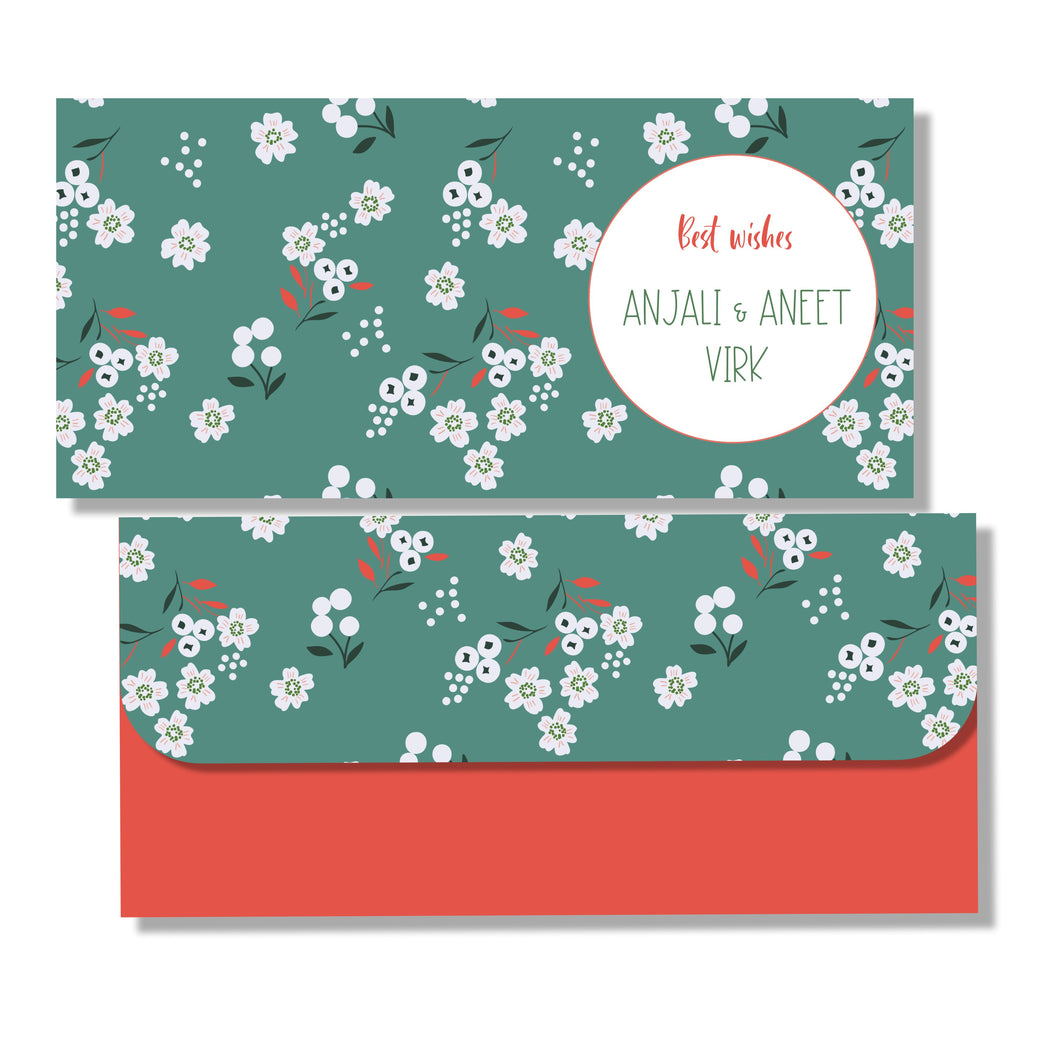 Personalised Money Envelopes - Spring Blossoms