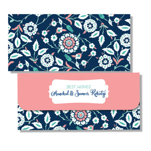 Personalised Money Envelopes - Indigo