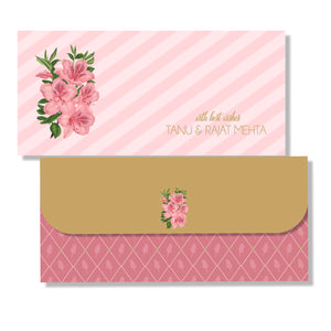 Personalised Money Envelopes - Pink Lillies