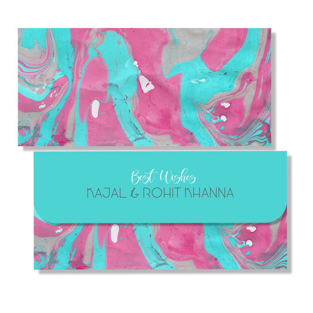 Personalised Money Envelopes - Turquoise Waters