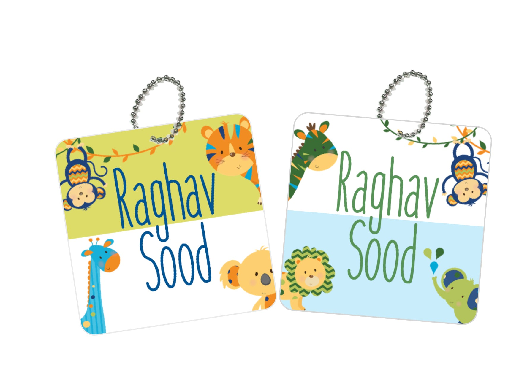 Bag Tags - Animal Safari Boys