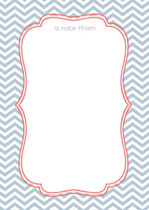 personalised blue trellis design A5 note pad