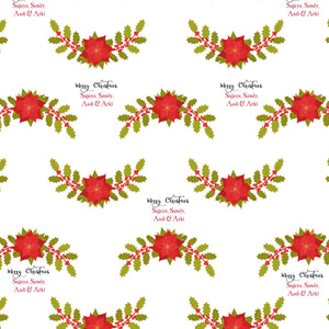 Personalised Wrapping Paper - Boughs Of Holly