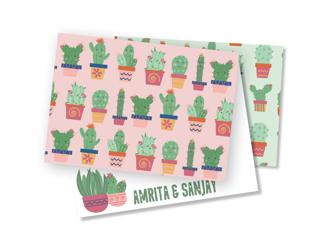 Personalised Folded Card - Cactus