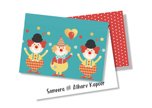 Personalised Folded Card - Clown