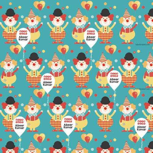 Personalised Wrapping Paper - Clowning About