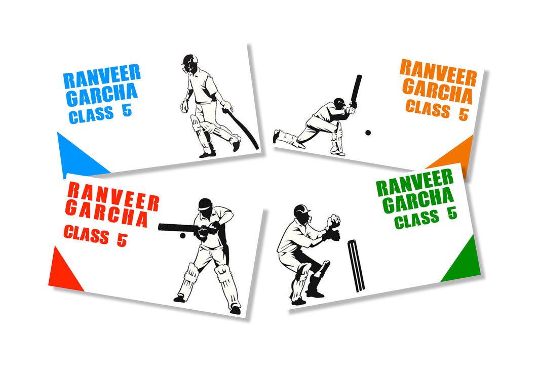 Book Labels - Cricket