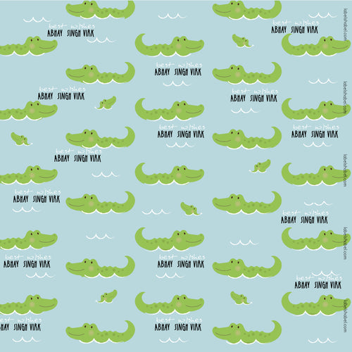 Personalised Wrapping Paper - Croc-a-Smile