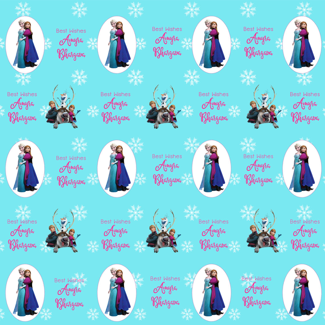 Personalised Wrapping Paper - Frozen