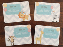personalised gift cards with animals off to a party