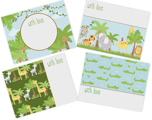 gift cards for kids jungle animals design