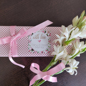 Gift Label - Pink Lilies