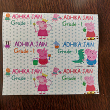 Book Labels- Peppa Pig