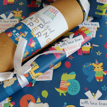 Personalised Wrapping Paper - Numbers Games