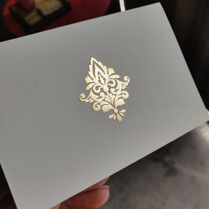 Damask -Personalised Fold Card