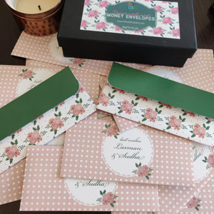 Personalised Money Envelopes - Lacy Bouquet