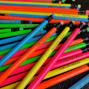 Neon Bright  - Personalised Pencils